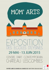 Affiche exposition Mom'Arts 2015